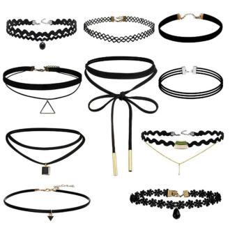 Bộ 10 chiếc vòng cổ choker đa phong cách siêu đẹp