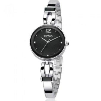 Đồng hồ nữ dây thép không gỉ KIMIO K466L-S0202 mặt đen