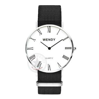 Đồng hồ nam dây vải Wendy CH243-1 (Đen Trắng)