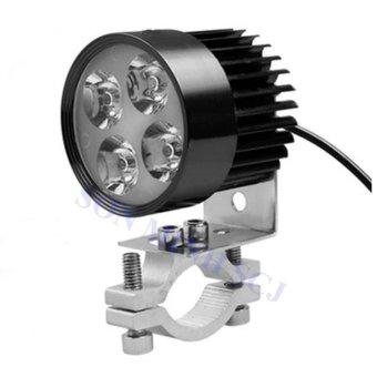 Đèn pha trợ sáng 4 LED siêu sáng dành cho xe mô tô, xe điện tặng giá lắp tiện dụng (so so nice - màu đen)