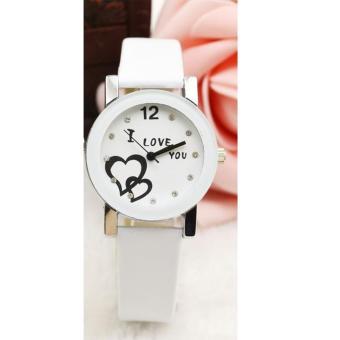 Đồng hồ nữ dây da thời trang IDMUASAM 9452 (Dây trắng mặt trắng)