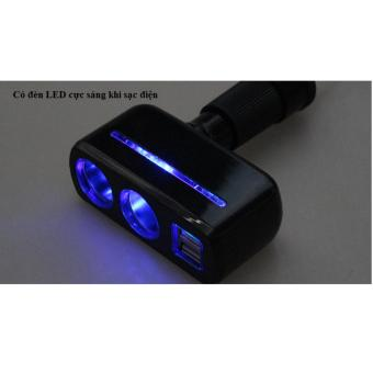 Sạc điện đa năng trên xe ô tô VIPauto-SĐ01 (Đen)