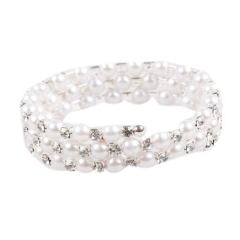 Fancyqube Newly Arrival Trendy And Charming Multilayer Stretchable Simulated Pearl Woman Bracelet 2 Styles -1 - intl