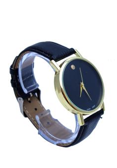 Đồng hồ nam dây da Geneva P-GV005 (Đen)