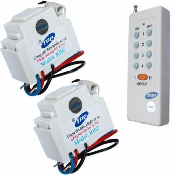Bộ 2 công tắc điều khiển từ xa IR-RF TPE RI02+ 01 Remote 8 nút - lắp mặt panasonic