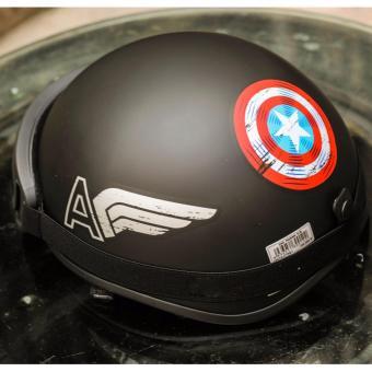 Combo Mũ bảo hiểm nửa đầu Captain America + Kính