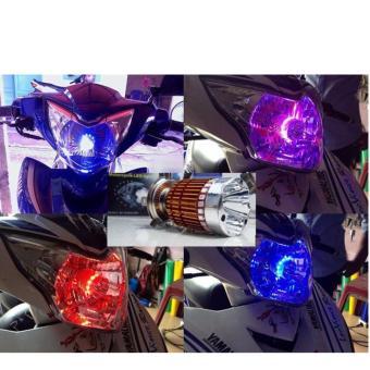 Đèn pha led 7 màu H4 BULB cho xe máy