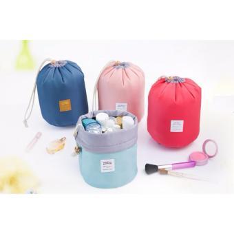 Bộ túi đựng mỹ phẩm du lịch rút dây chống sốc (hồng)