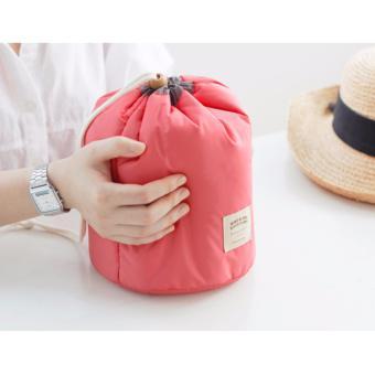 Mua Bộ túi đựng mỹ phẩm du lịch rút dây chống sốc (hồng) giá tốt nhất