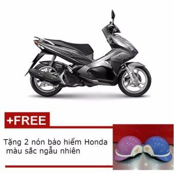 Xe tay ga Honda Air Blade sơn từ tính cao cấp 2017 - Xám bạc + Tặng 2 nón bảo hiểm Honda màu sắc ngẫu nhiên