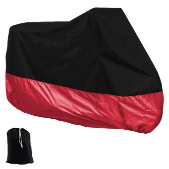niceEshop Motorcycle Motorbike Waterproof Dust UV Protective Cover(Black&Red,XXL)