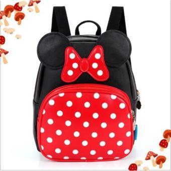 QS50 - Balo đi học hình Mickey đáng yêu cho bé QSTORE (Đỏ)