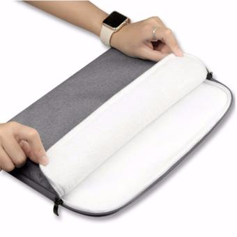Túi chống sốc Macbook cao cấp 12 inch (Ghi xám)