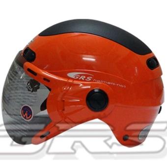 Mũ bảo hiểm GRS A102K (Da cam phối đen)