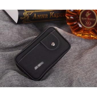 Túi đeo điện thoại dây kéo nút bấm(Đen)