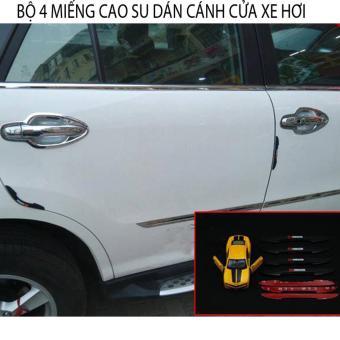 Bộ 4 miếng cao su dán cánh cửa xe hơi cao cấp
