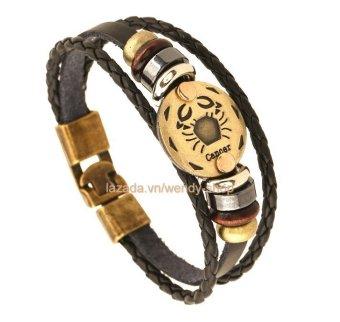 Vòng đeo tay Nam hình 12 chòm sao hoàng đạo cung Cancer - Cự Giải - VĐT11
