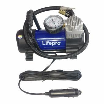 Máy bơm lốp xe ô tô Lifepro L600-HE + Tặng 1 lá thơm khử mùi ô tô Exotica