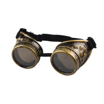 Vintage Style Steampunk Goggles Welding Punk Glasses Cosplay Yellow