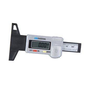 Digital LCD Tyre Tread Depth Gauge 0-25.4mm Metric/Inch w/ Plastic Probe - intl