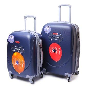 Bộ vali bọc nhựa dẻo 20inch và 24 inch (Xanh nước biển)