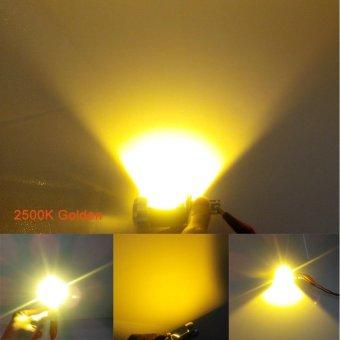 Motorcycle LED Headlight H4 Hi Lo 20W 2000LM HS1 COB Gold - intl
