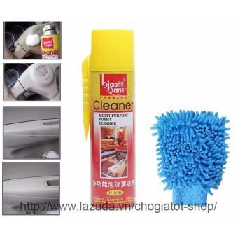 Chai dầu thơm lau bóng sạch nội thất ô tô 620ml kèm găng tay lau xe
