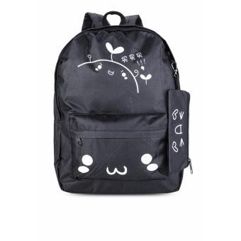 Balo thời trang tặng kèm ví đựng bút Mua Mua (đen) Gg56