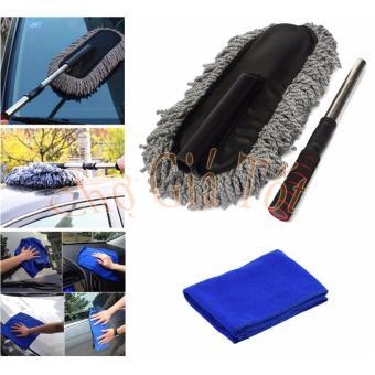 Bộ chổi lau xe ô tô sợi dầu cỡ lớn kèm khăn lau rửa vệ sinh xe CS487