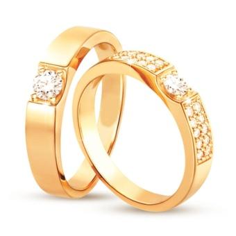 Nhẫn cặp bạc mạ vàng 14k
