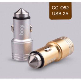 CỐC SẠC XE ÔTÔ 2A BAGI 2 CỔNG USB