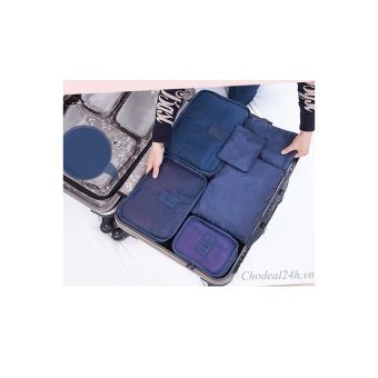 Bộ túi đa năng giúp chia hành lý du lịch - (Xanh đậm)