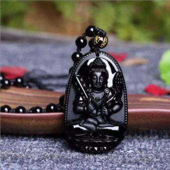 Phật Hư Không Tạng Bồ Tát đá Hắc Thạch 4,8 x 3,2 cm