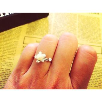 Nhẫn hoa đính đá ( có thể điều chỉnh)VH1987