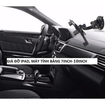 Kẹp ipad, máy tính bảng trên xe hơi 360 độ đa năng (Đen)