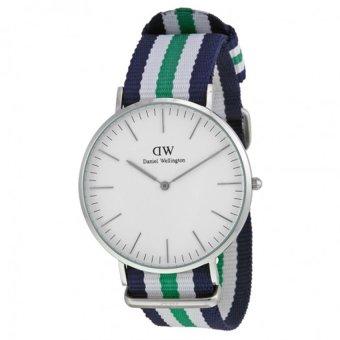 Đồng hồ nam dây vải Daniel Wellington 0208DW (Trắng Xanh).