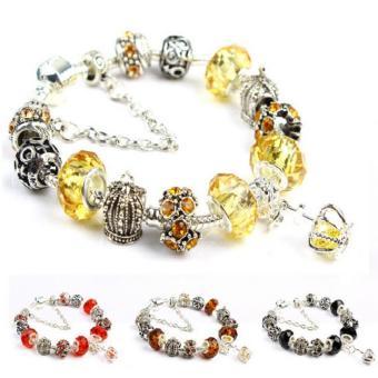 Vòng tay mạ bạc hạt charms Jewelry Queen Victoria Charm Panda DZ32