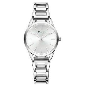 Đồng hồ nữ dây thép không gỉ Kimio KW6105M-S01 mặt trắng