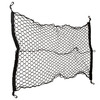(100*70)Car Trunk Rear Tail Elastic Mesh Nylon Cargo Net With 4 Hooks (Intl)