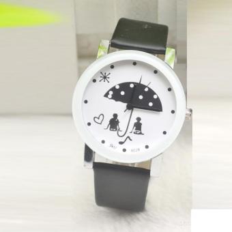 Đồng hồ nam dây da thời trang IDMUASAM 9411 (Dây đen mặt trắng)
