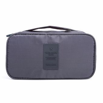 Túi đa chức năng sắp xếp lưu trữ đồ lót khi du lịch (Xám)