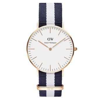 Đồng hồ nam dây vải Daniel Wellington 0503DW (Trắng xanh)