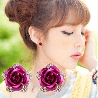 Bông tai thời trang hoa hồng ngọt ngào
