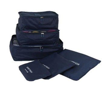 Bộ 6 túi đựng phụ kiện du lịch chống nước (Xanh navy)