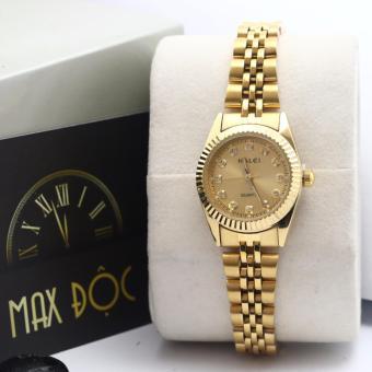 Đồng hồ nữ mạ vàng cao cấp Halei HI3307