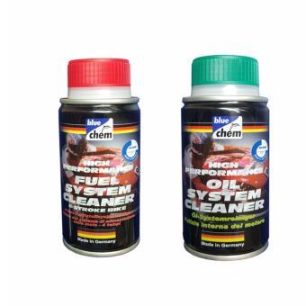 Bộ 2 sản phẩm vệ sinh và chăm sóc xe máy Bluechem Fuel Oil 50ml