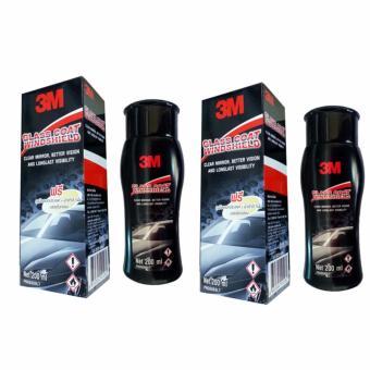 Bộ 2 chai Dung dịch chống bám nước trên kính xe 3M Glass Coat Windshield 3M 08889 LT 200ml