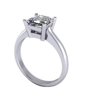 Nhẫn nữ đá kim cương nhân tạo - NNU011