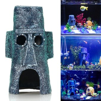 Aquarium Landscaping Decoration Animals Aquatic House Home Fish Tank Ornament - intl