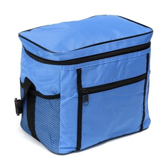Travel Portable Waterproof Thermal Cooler Insulated Tote Picnic Lunch Ice Bag Royal Blue - intl